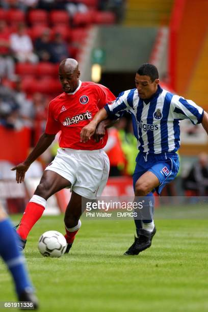Charlton Athletic's Richard Rufus brings the ball out of defence