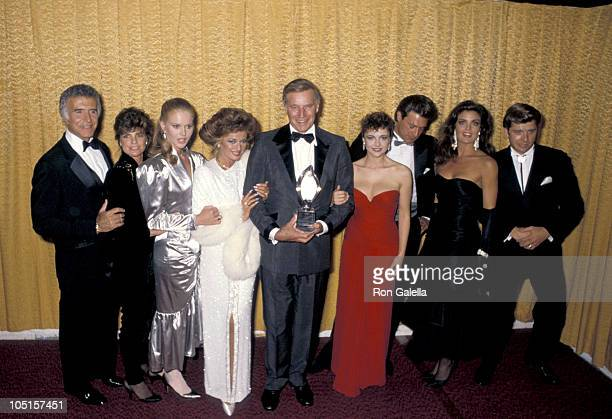 Charlton Heston and Cast of The Colby's during 12th Annual People's Choice Awards at Santa Monica Civic Auditorium in Santa Monica California United...