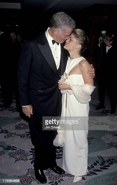 Charlton Heston and daughter Holly Rochell during 50th Anniversary Party For Charlton Heston and Lydia Heston at Hotel Nikko in Beverly Hills...