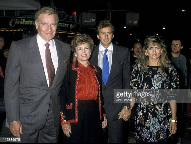 Charlton Heston and family during TaiPan Premiere at Mann's Chinese Theater in Los Angeles California United States