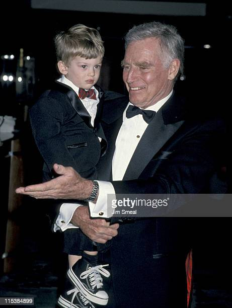 Charlton Heston and grandson Jack during 50th Anniversary Party For Charlton Heston and Lydia Heston at Hotel Nikko in Beverly Hills California...