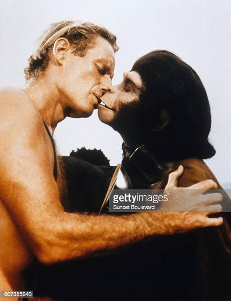 Charlton Heston and Kim Hunter in Planet of the Apes