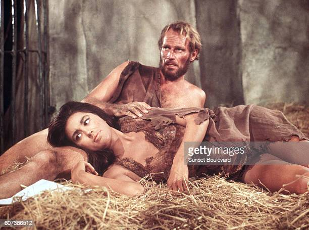 Charlton Heston and Linda Harrison in the film by Franklin Schaffner in 1967