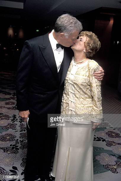 Charlton Heston and wife Lydia during 50th Anniversary Party For Charlton Heston and Lydia Heston at Hotel Nikko in Beverly Hills California United...