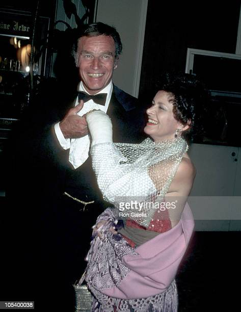 Charlton Heston and wife Lydia during 'Gala Evening in Monaco' Dubnoff Center Benefit April 24 1981 at Beverly Hilton Hotel in Beverly Hills...