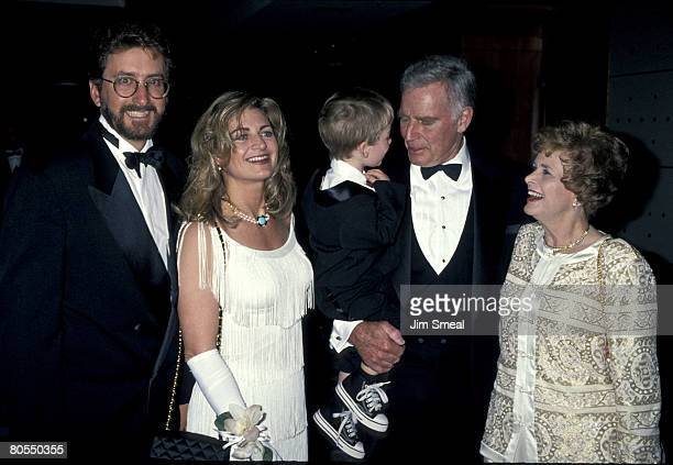 Charlton Heston and wife Lydia son Fraiser Heston with wife Marilyn and son Jack