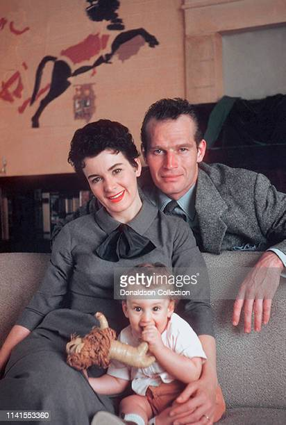 Charlton Heston at home with wife Lydia Clarke and son Fraser Clarke HestonnJanuary 4 1956