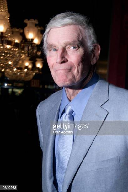 Charlton Heston at the world premiere of the 20th Century Fox film 'Planet of the Apes' at the Ziegfeld Theater in New York City Photo Evan...