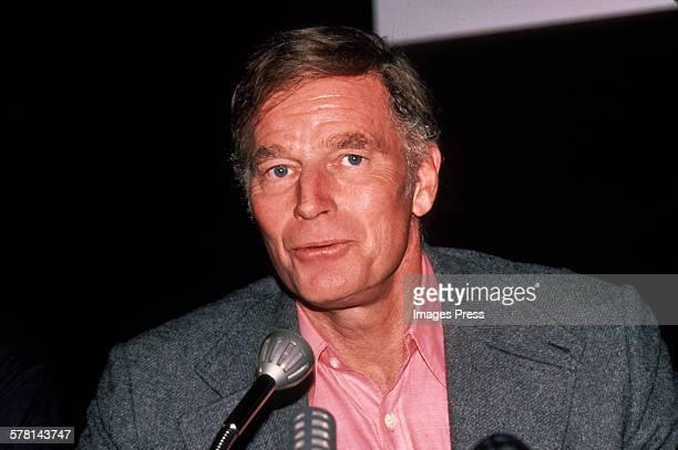Charlton Heston circa 1983 in New York City