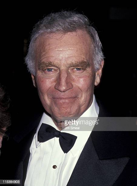 Charlton Heston during 50th Anniversary Party For Charlton Heston and Lydia Heston at Hotel Nikko in Beverly Hills California United States