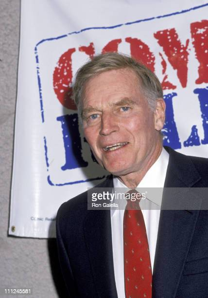 Charlton Heston during Comic Relief 3 at Universal Ampitheater in Los Angeles CA United States