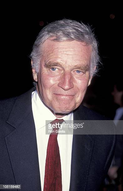 Charlton Heston during The Directors Guild Premiere And Party for El Cid at AFI Film Festival Hollywood in Hollywood CA United States