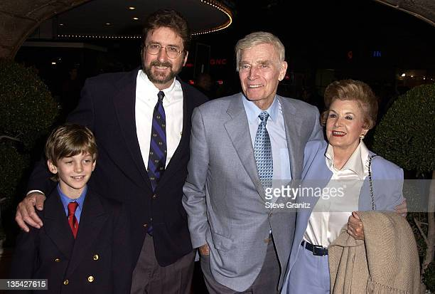 Charlton Heston family at the 'Harry Potter and the Sorcerer's Stone' premiere at Mann's Village Theatre Westwood California USA November 14 2001...