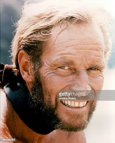 Charlton Heston smiles in a scene from the film 'Planet Of The Apes' 1968