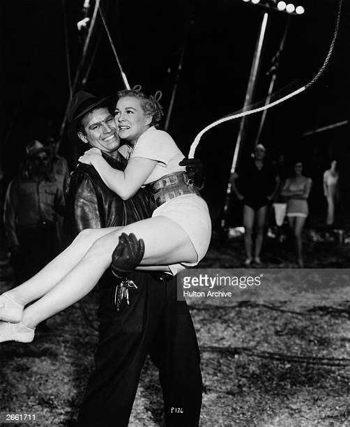 Charlton Heston stars with Betty Hutton in the epic circus drama 'The Greatest Show On Earth' directed by Cecil B DeMille