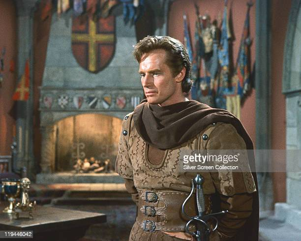 Charlton Heston , US actor, in a publicity portrait issued for the film, 'El Cid', 1961. The historical drama, directed by Anthony Mann , starred...