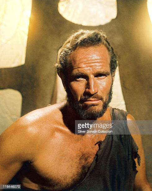 Charlton Heston US actor in a publicity portrait issued for the film 'Planet of the Apes' 1968 The science fiction film directed by Franklin J...