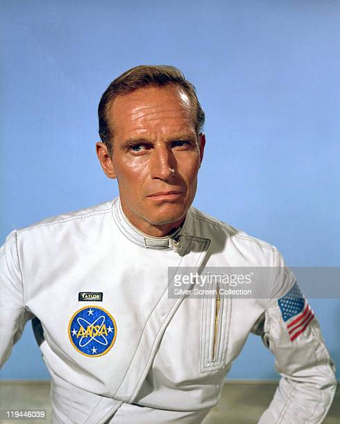 Charlton Heston US actor in costume in a publicity portrait issued for the film 'Planet of the Apes' 1968 The science fiction film directed by...