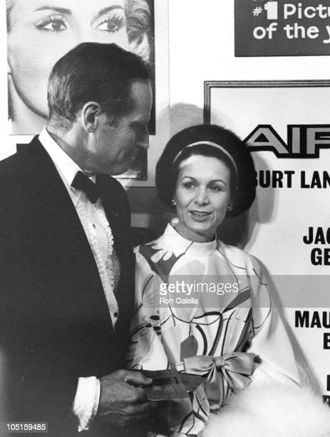 Charlton Heston Wife Lydia during 'Airport' Los Angeles Premiere at Hollywood Pacific Theater in Hollywood California United States