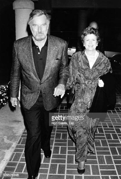 Charlton Heston & Wife Lydia during Universal Studios Private Party at the Grand Cypress Resort - June 6, 1990 at Grand Cyprus Resort in Orlando,...