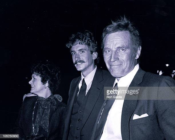 Charlton Heston Wife Lydia Son Fraser during The Heston Family at Chasen's Restaurant at Chasen's Restaurant in Los Angeles California United States