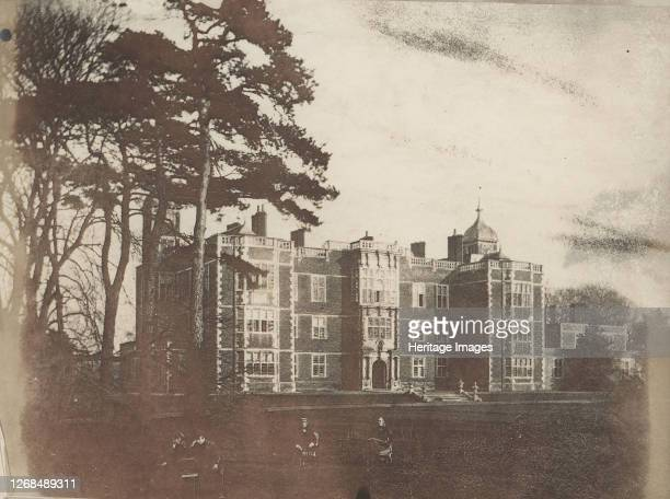Charlton House with Seated Figures in Foreground 1850s Artist Unknown