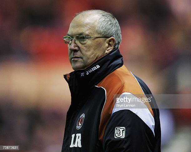 Charlton Manager Les Reed watches his team during the Barclays Premiership match between Middlesbrough and Charlton Athletic at The Riverside on...