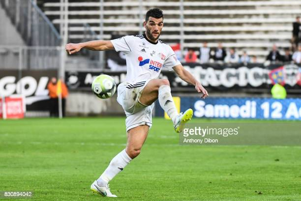 Charly Charrier of Amiens during the Ligue 1 match between Amiens SC and Angers SCO at Stade de la Licorne on August 12 2017 in Amiens