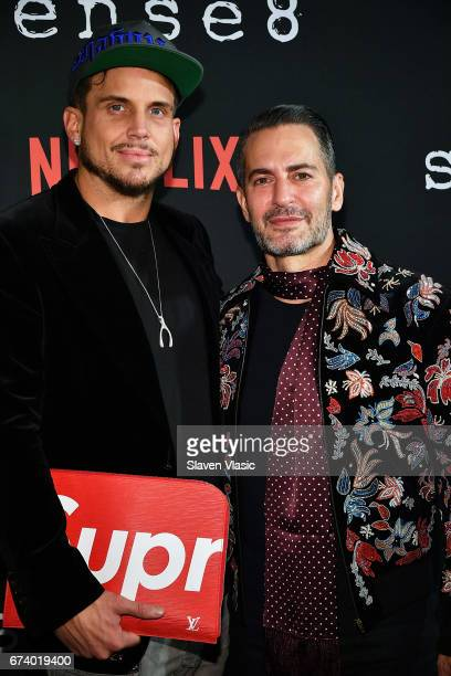 Charly DeFrancesco and Marc Jacobs attend 'Sense8' New York Premiere at AMC Lincoln Square Theater on April 26 2017 in New York City