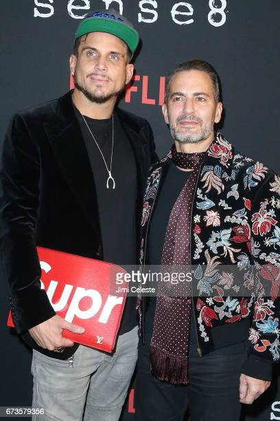 Charly DeFrancesco and Marc Jacobs attend the Season 2 Premiere of Netflix's Sense8 at AMC Lincoln Square Theater on April 26 2017 in New York City