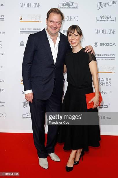 Charly Huebner and Anneke Kim Sarnau attend the Goldene Henne on October 28 2016 in Leipzig Germany