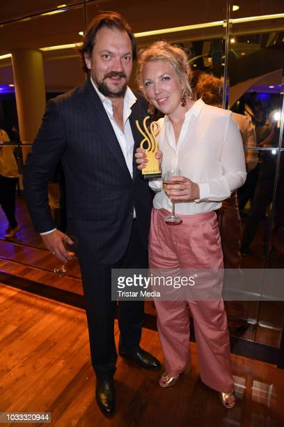 Charly Huebner and his wife Lina Beckmann attend the Deutscher Schauspielpreis 2018 at Zoo Palast on September 14 2018 in Berlin Germany