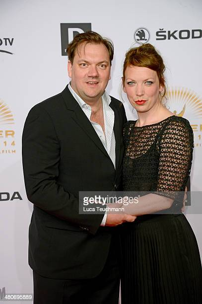 Charly Huebner and Lina Beckmann attend 'Jupiter Award 2014' at Cafe Moskau on March 26 2014 in Berlin Germany