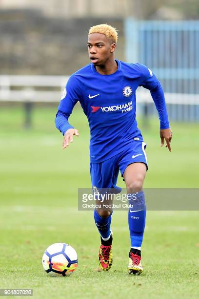 Charly Musonda during the Premier League 2 match between Sunderland U23 and Chelsea U23 at Eppleton Colliery Welfare Ground on January 14 2018 in...