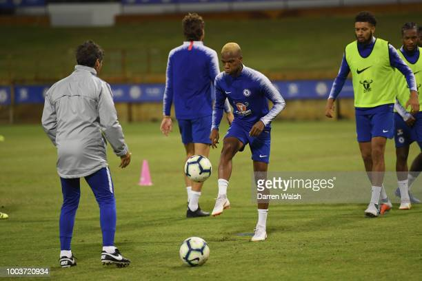 Charly Musonda of Chelsea during a training session at the WACA on July 22 2018 in Perth Australia