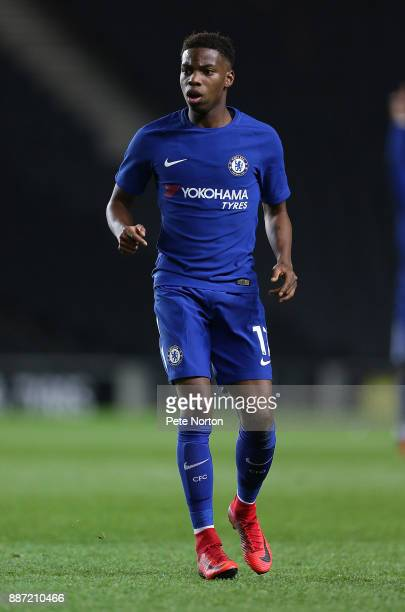 Charly Musonda of Chelsea in action during the Checkatrade Trophy Second Round match between Milton Keynes Dons and Chelsea U21vat StadiumMK on...