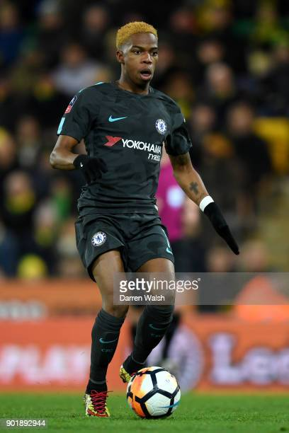 Charly Musonda of Chelsea in caption during the The Emirates FA Cup Third Round match between Norwich City and Chelsea at Carrow Road on January 6...