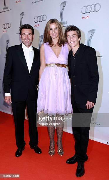 Charly Steeb his wife Kim and son Luke attend the Audi Generation Award 2010 at Hotel Bayerischer Hof on October 23 2010 in Munich Germany