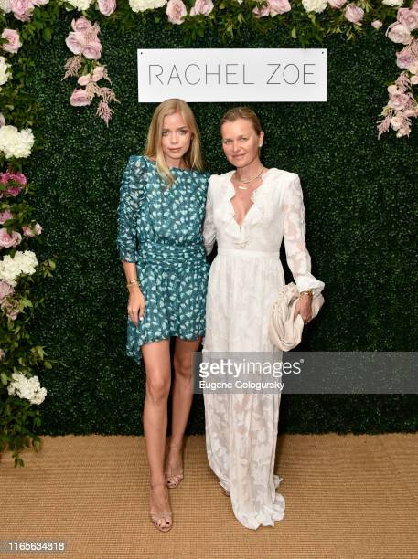 Charly Sturm and Barbara Sturm attend the Rachel Zoe Collection Summer Dinner at Moby's East Hampton with FIJI Water, Tanqueray, and AUrate on August...