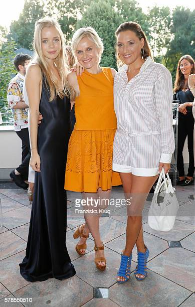 Charly Sturm Barbara Sturm and Simone Ballack attend the 'Dr Barbara Sturm NetAPorter' Dinner Party on July 21 2016 in Munich Germany