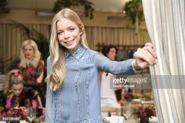 Charly Sturm daughter of Barbara Sturm during the NetAPorter lunch at hotel Chateau Marmont on February 24 2017 in Los Angeles California