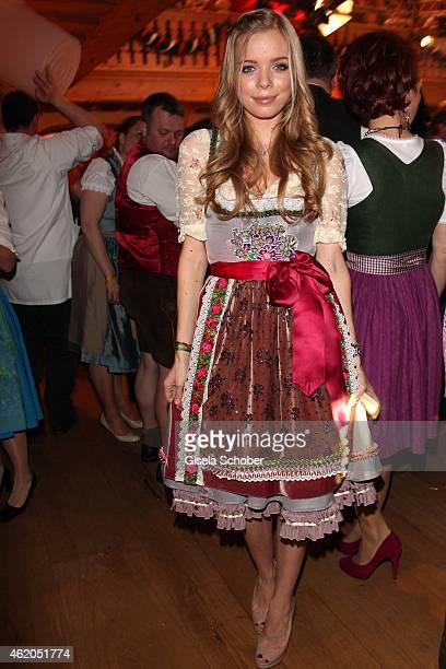 Charly Sturm daughter of Dr Barbara Sturm during the Weisswurstparty at Hotel Stanglwirt on January 23 2015 in Going Austria