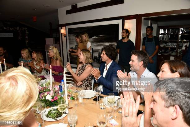 Charly Sturm, Erica Pelosini, Christie Brinkley, Delfina Blaquier, Nacho Figuearas and Jeff Gordon attend the Rachel Zoe Collection Summer Dinner At...