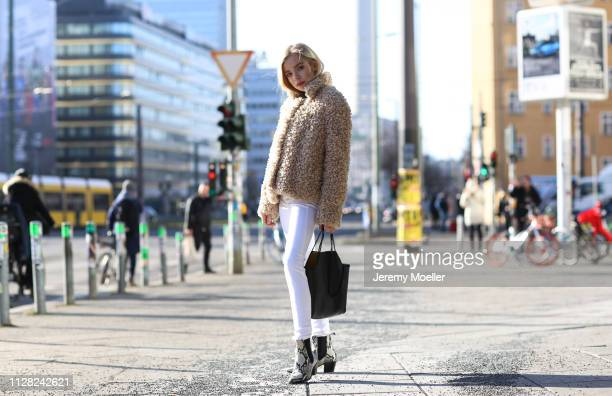 Charly Sturm wearing Closed pants and jacket Paris Texas shoes Stella McCartney bag Chromehearts and Maria Tash earrings Margova Cartier and Sophie...