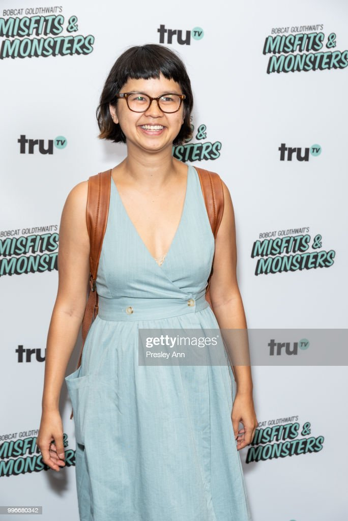 Charlyne Yi attends the premiere of truTV's 'Bobcat Goldthwait's Misfits & Monsters' at Hollywood Roosevelt Hotel on July 11, 2018 in Hollywood, California.