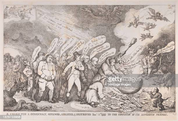 Charm for a Democracy, Reviewed, Analysed, & Destroyed Jan 1 1799 to the Confusion of its Affiliated Friends, January 1, 1799. Artist Henri Merke.