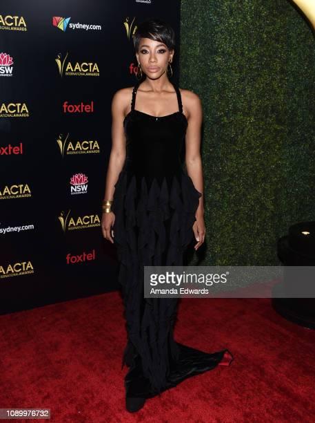 Charmaine Bingwa arrives at the 8th AACTA International Awards at Mondrian Los Angeles on January 04 2019 in West Hollywood California