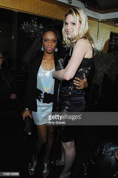 Charmaine Blake and Ashley Madison attend her Birthday Bash on January 14 2009 in Los Angeles California