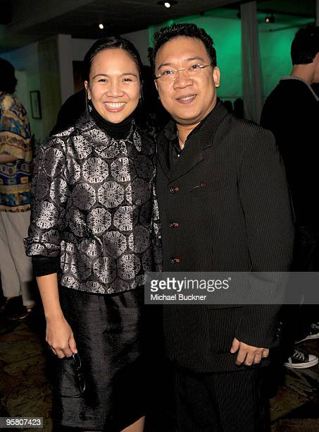 Charmaine Chua and actor Roderick Paulate attend the Filipino Film Reception at the 2010 Palm Springs Intertnational Film Festival at Trio on January...