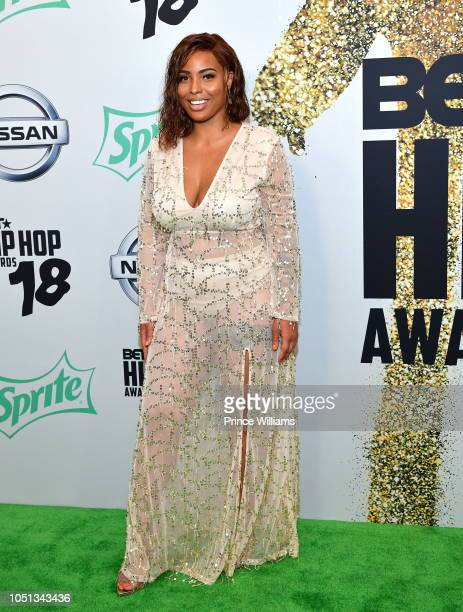 Charmaine Johnise arrives at the BET Hip Hop Awards 2018 at Fillmore Miami Beach on October 6 2018 in Miami Beach Florida